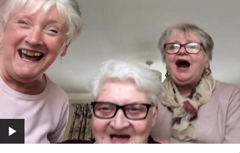 Coronavirus: Three grandmothers self-isolating together